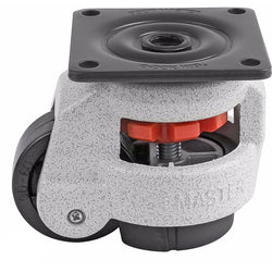 "Leveling Casters | FootMaster GD-60F | Top Plate Mount with 2"" Wheel & 550 Lb Capacity"