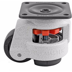 "Leveling Casters | FootMaster GD-80F | Top Plate Mount with 2-1/2"" Wheel & 1,100 Lb Capacity"