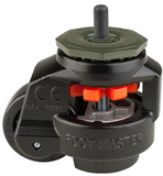 Leveling Caster | FootMaster GD-60S-BLK with 12mm Thremaded Ste