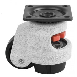 "Leveling Casters | FootMaster GDN-60F | Top Plate Mount with 2"" Wheel & 550 Lb Capacity"