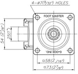 FootMaster GDN-60F Drawing Side | Leveling Caster Store