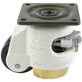 "Leveling Casters | FootMaster GDR-60F-UP | Ratchet Adjustment Top Plate Mount Caster with 2"" Wheel, Poly Pad & 550 Lb Capacity"