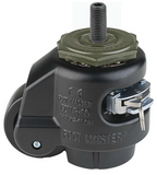 "Leveling Caster | FootMaster GDR-60S-BLK-1/2 with| Ratchet Adjustment & 1/2"" Threaded Stem"
