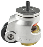 Stainless Steel Leveling Casters with Threaded Stem