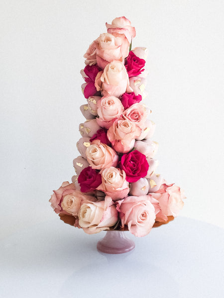 Floral Strawberry Tower