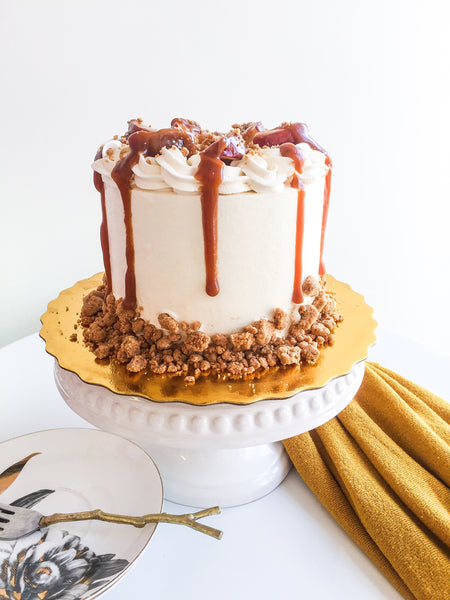 Apple Caramel Spice Cake (Thanksgiving Special)