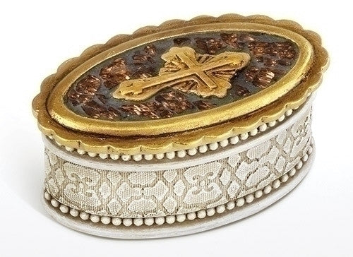 "3.25""H Keepsake Box Peace to All by Joseph's Studio for Roman Inc."