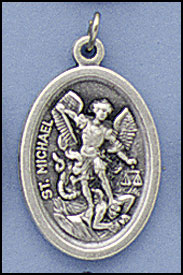 St. Michael - 1 inch Medal Oxidized