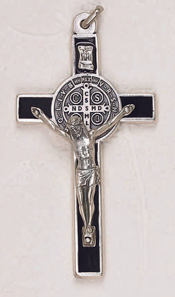 St. Benedict Crucifix 3inches with Black Enamel