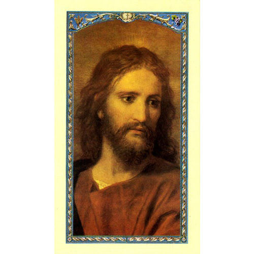 My Life a Weaving - Head of Christ Laminate Holy Card