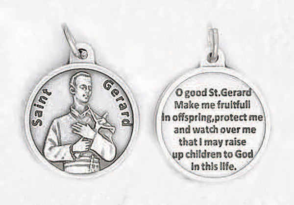 St. Gerard - 3/4 inch Double Sided Round Medal Oxidized