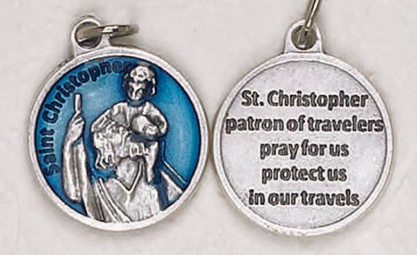 Saint Christopher-3/4 inch Double Sided Medal