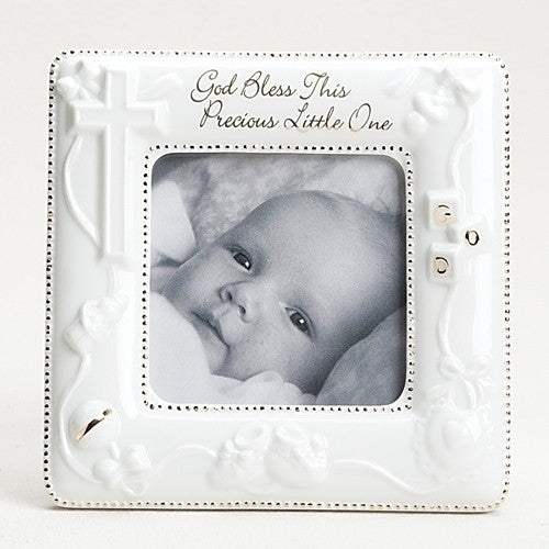 "5.75""H God Bless This Precious Little One Picture Frame"