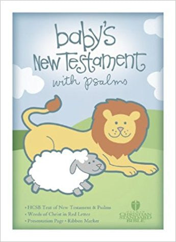 HCSB Baby's New Testament with Psalms, Pink Imitation Leather