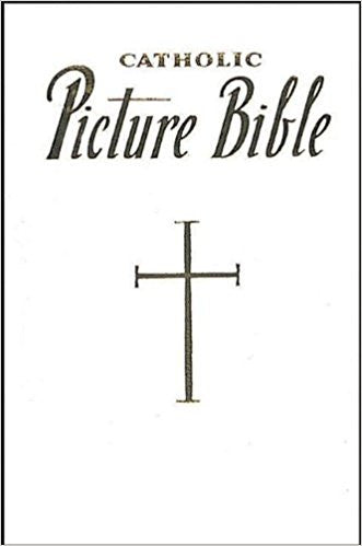 Catholic Picture Bible White or Burgundy Leather