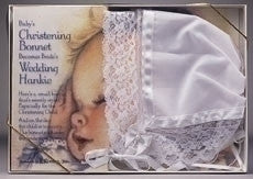 Baby's Christening Bonnet Becomes Bride's Wedding Hankie