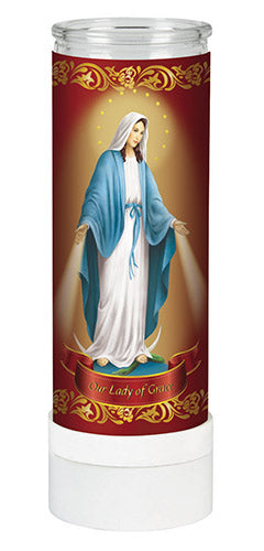 Our Lady Of Grace Electric Candle