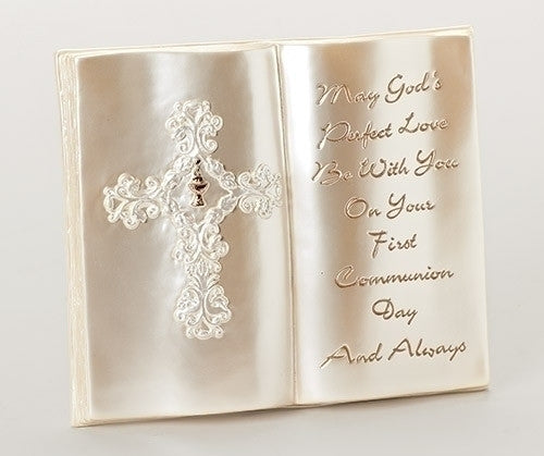 "6.5""H Filigree First Communion Table Plaque"