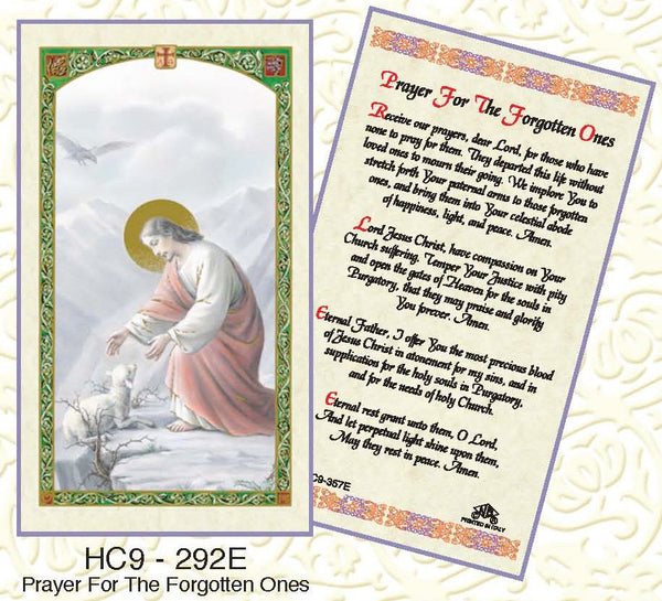 Prayer for the Forgotten Ones Laminate Holy Card