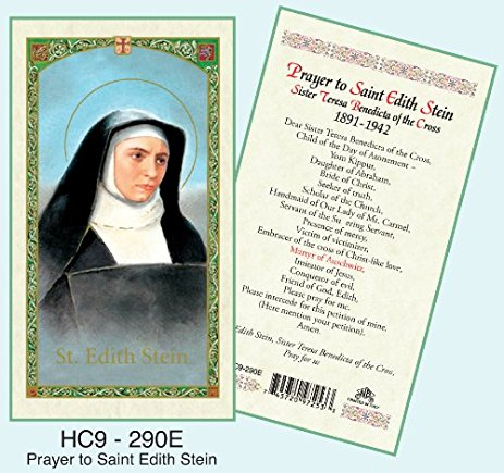St. Edith Stein Holy Card Laminate