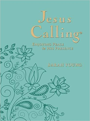 Jesus Calling Deluxe-Teal Leather-Large Print