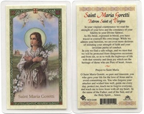 St. Maria Goretti Holy Card Laminate