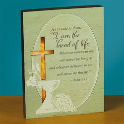 """Bread of Life"" LED Sitter Plaque"