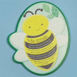 """The Bee-Attitudes"" Shaped Plaque"
