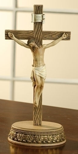 "2pc ST 8.5"" Crucifix with Stand from Joseph's Studio for Roman Inc."