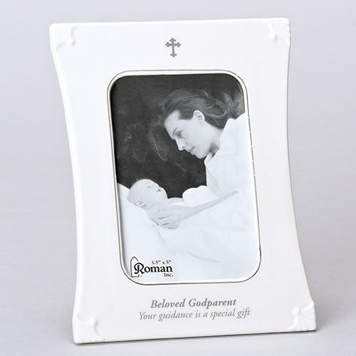 "7.75""H Godparent Picture Frame Holds 3.5 x 5 Photograph"