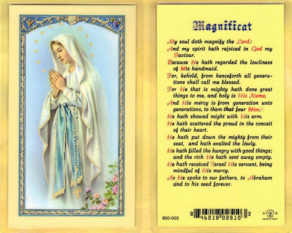 Magnificat Holy Card Laminate