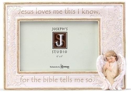 "6.25""H Jesus Loves Me Picture Frame"