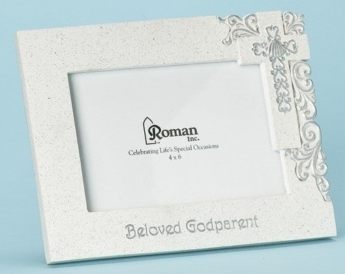 "6""H Godparent Frame Holds 4x6 Photo from Roman Inc."