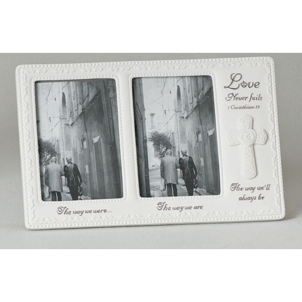 Love Never Fails Anniversary Double Frame from Roman Inc.