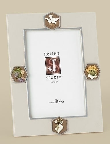 """Bread of Life"" Communion Frame Holds 4""x""6 Photo"