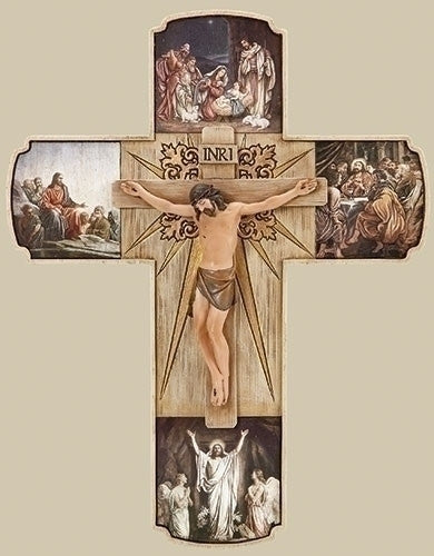 "12"" Life of Christ Crucifix by Joseph's Studio for Roman Inc."