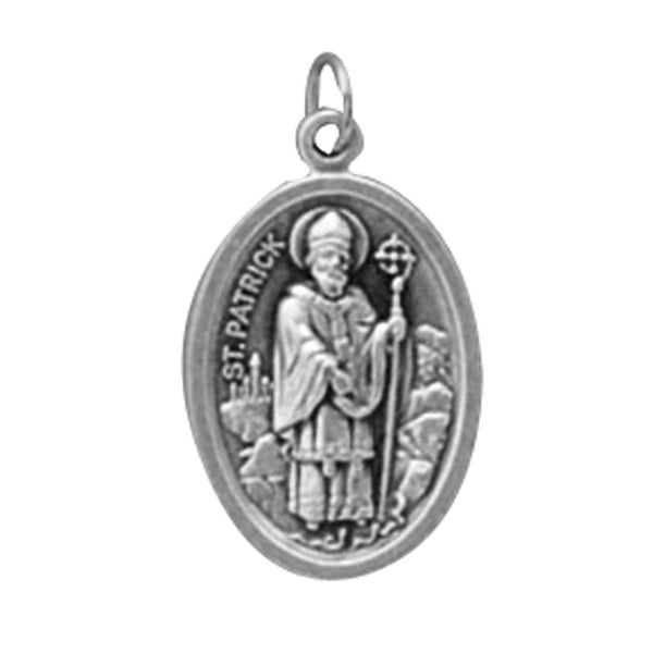 St. Patrick - 1 inch Double Sided Medal Oxidized