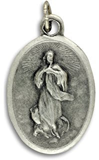 Our Lady of The Assumption - 1 inch Medal Oxidized