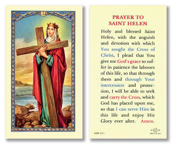 St. Helen Laminate Holy Card