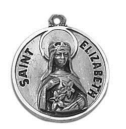 St. Elizabeth of Hungary Pewter Medal and Prayer Card