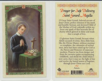 St. Gerard Majella Holy Card Laminate