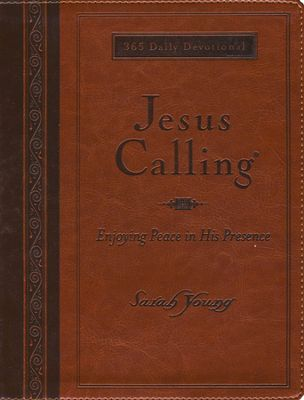 Jesus Calling Deluxe-Brown Leather-Large Print