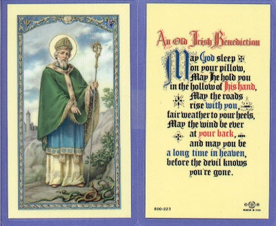 St. Patrick Holy Card Laminate