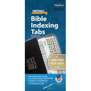 Bible Indexing Tabs Large Print Gold Edged-Non Catholic