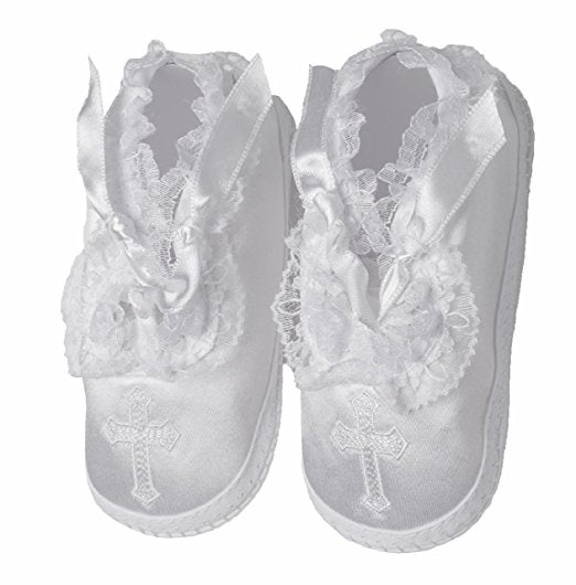 Baptism Shoe with Cross Size 2-3 #1322