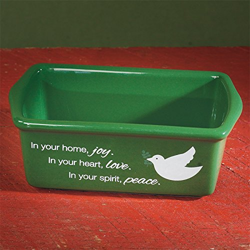 Christmas Mini Bread Loaf Pan - Christmas Blessings (Dove) 56715T Abbey Press