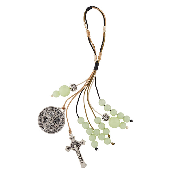 St. Benedict Luminous Bead Home Protection Hanger