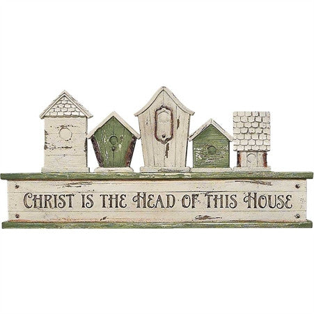 Christ is the Head of This House Resin Wall Plaque