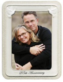 25th Anniversary Porcelain Anniversary Frame from Gund Gifts