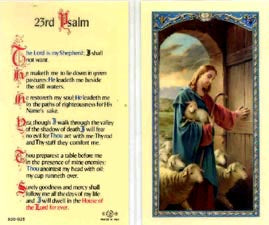 23rd Psalm Holy Card Laminate